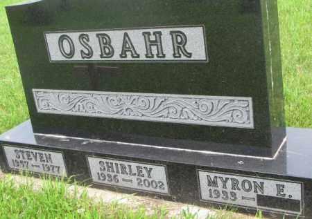 OSBAHR, SHIRLEY - Dixon County, Nebraska | SHIRLEY OSBAHR - Nebraska Gravestone Photos