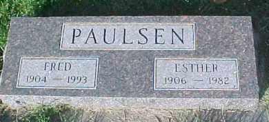 PAULSEN, ESTHER - Dixon County, Nebraska | ESTHER PAULSEN - Nebraska Gravestone Photos