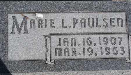 PAULSEN, MARIE L. - Dixon County, Nebraska   MARIE L. PAULSEN - Nebraska Gravestone Photos