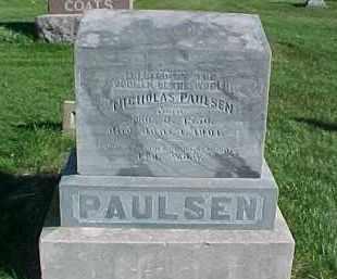 PAULSEN, NICHOLAS - Dixon County, Nebraska   NICHOLAS PAULSEN - Nebraska Gravestone Photos