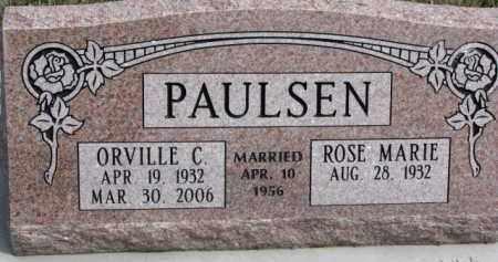 PAULSEN, ORVILLE C. - Dixon County, Nebraska   ORVILLE C. PAULSEN - Nebraska Gravestone Photos