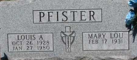 PFISTER, MARY LOU - Dixon County, Nebraska | MARY LOU PFISTER - Nebraska Gravestone Photos