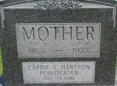 LAMM POINDEXTER, CARRIE E. HARTSON - Dixon County, Nebraska | CARRIE E. HARTSON LAMM POINDEXTER - Nebraska Gravestone Photos