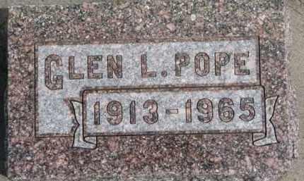 POPE, GLEN L. - Dixon County, Nebraska | GLEN L. POPE - Nebraska Gravestone Photos