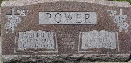 POWER, IOLA M. - Dixon County, Nebraska | IOLA M. POWER - Nebraska Gravestone Photos