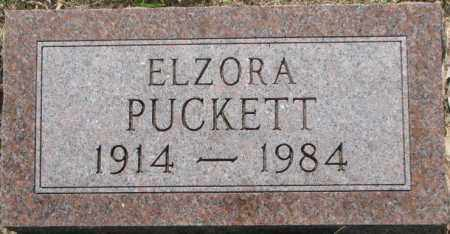 PUCKETT, ELZORA - Dixon County, Nebraska | ELZORA PUCKETT - Nebraska Gravestone Photos