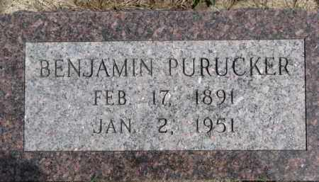 PURUCKER, BENJAMIN - Dixon County, Nebraska | BENJAMIN PURUCKER - Nebraska Gravestone Photos