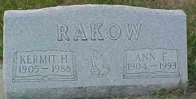 RAKOW, ANN E. - Dixon County, Nebraska | ANN E. RAKOW - Nebraska Gravestone Photos