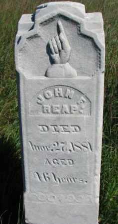 REAP, JOHN F. - Dixon County, Nebraska | JOHN F. REAP - Nebraska Gravestone Photos
