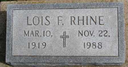 RHINE, LOIS F. - Dixon County, Nebraska | LOIS F. RHINE - Nebraska Gravestone Photos