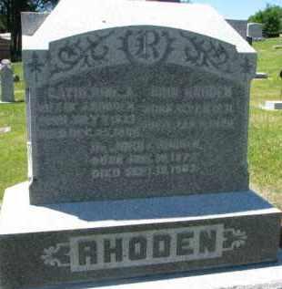 RHODEN, JOHN C.  (DR.) - Dixon County, Nebraska | JOHN C.  (DR.) RHODEN - Nebraska Gravestone Photos
