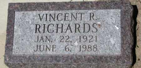 RICHARDS, VINCENT R. - Dixon County, Nebraska | VINCENT R. RICHARDS - Nebraska Gravestone Photos