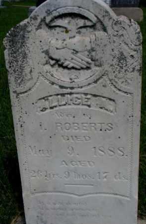 HALL ROBERTS, ALLICE A. - Dixon County, Nebraska   ALLICE A. HALL ROBERTS - Nebraska Gravestone Photos