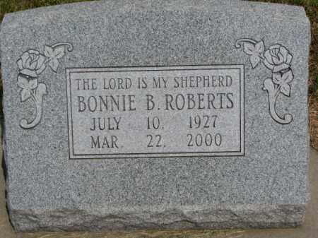 ROBERTS, BONNIE B. - Dixon County, Nebraska   BONNIE B. ROBERTS - Nebraska Gravestone Photos