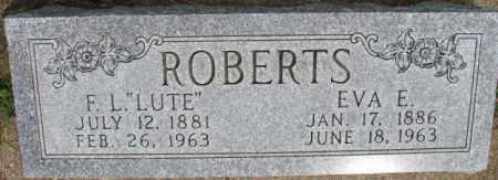 "ROBERTS, F.L. ""LUTE"" - Dixon County, Nebraska | F.L. ""LUTE"" ROBERTS - Nebraska Gravestone Photos"