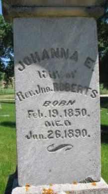 ROBERTS, JOHANNA E. - Dixon County, Nebraska | JOHANNA E. ROBERTS - Nebraska Gravestone Photos