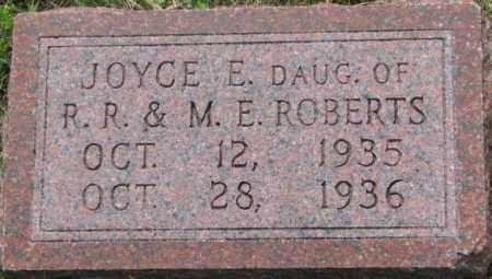 ROBERTS, JOYCE E. - Dixon County, Nebraska | JOYCE E. ROBERTS - Nebraska Gravestone Photos
