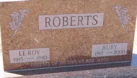 ROBERTS, LEROY - Dixon County, Nebraska | LEROY ROBERTS - Nebraska Gravestone Photos