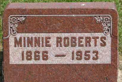 ROBERTS, MINNIE - Dixon County, Nebraska | MINNIE ROBERTS - Nebraska Gravestone Photos