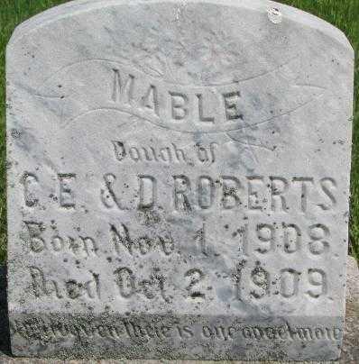 ROBERTS, MABLE - Dixon County, Nebraska | MABLE ROBERTS - Nebraska Gravestone Photos