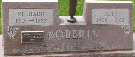 ROBERTS, RUTH - Dixon County, Nebraska | RUTH ROBERTS - Nebraska Gravestone Photos