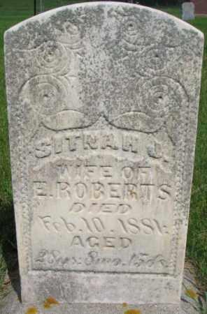 PAXSON ROBERTS, SITNAH JANE - Dixon County, Nebraska | SITNAH JANE PAXSON ROBERTS - Nebraska Gravestone Photos