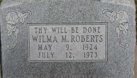 ROBERTS, WILMA M. - Dixon County, Nebraska | WILMA M. ROBERTS - Nebraska Gravestone Photos