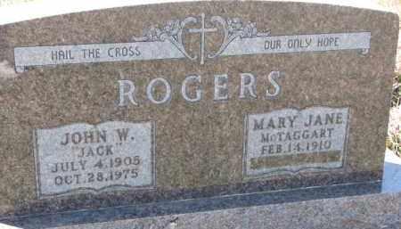 "ROGERS, JOHN W. ""JACK"" - Dixon County, Nebraska | JOHN W. ""JACK"" ROGERS - Nebraska Gravestone Photos"