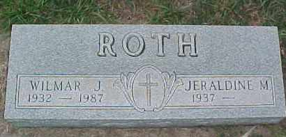ROTH, WILMAR J. - Dixon County, Nebraska | WILMAR J. ROTH - Nebraska Gravestone Photos