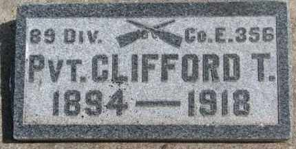 RYAN, CLIFFORD T. - Dixon County, Nebraska | CLIFFORD T. RYAN - Nebraska Gravestone Photos