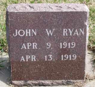 RYAN, JOHN W. - Dixon County, Nebraska   JOHN W. RYAN - Nebraska Gravestone Photos