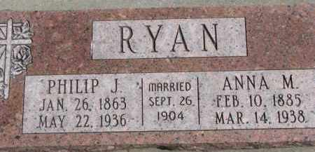 RYAN, PHILIP J. - Dixon County, Nebraska | PHILIP J. RYAN - Nebraska Gravestone Photos