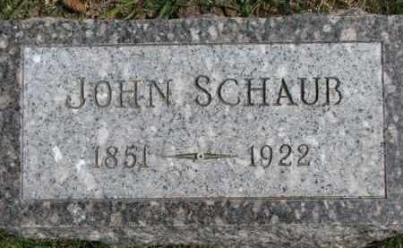 SCHAUB, JOHN - Dixon County, Nebraska | JOHN SCHAUB - Nebraska Gravestone Photos