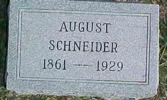 SCHNEIDER, AUGUST - Dixon County, Nebraska | AUGUST SCHNEIDER - Nebraska Gravestone Photos