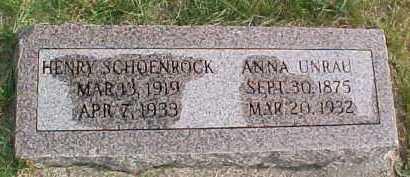 SCHOENROCK, HENRY - Dixon County, Nebraska   HENRY SCHOENROCK - Nebraska Gravestone Photos
