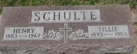 SCHULTE, TILLIE - Dixon County, Nebraska   TILLIE SCHULTE - Nebraska Gravestone Photos