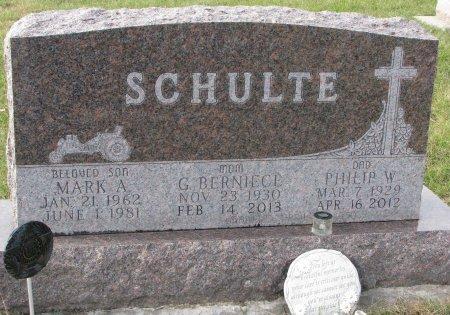 OLANDER SCHULTE, G. BERNIECE - Dixon County, Nebraska | G. BERNIECE OLANDER SCHULTE - Nebraska Gravestone Photos