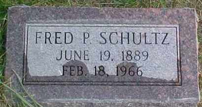 SCHULTZ, FRED P. - Dixon County, Nebraska | FRED P. SCHULTZ - Nebraska Gravestone Photos