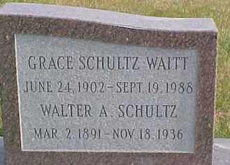 SCHULTZ, WALTER A. - Dixon County, Nebraska | WALTER A. SCHULTZ - Nebraska Gravestone Photos