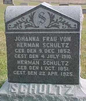 SCHULTZ, HERMAN - Dixon County, Nebraska | HERMAN SCHULTZ - Nebraska Gravestone Photos