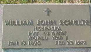 SCHULTZ, WILLIAM JOHN (WW I MARKER) - Dixon County, Nebraska | WILLIAM JOHN (WW I MARKER) SCHULTZ - Nebraska Gravestone Photos