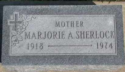 SHERLOCK, MARJORIE A. - Dixon County, Nebraska | MARJORIE A. SHERLOCK - Nebraska Gravestone Photos