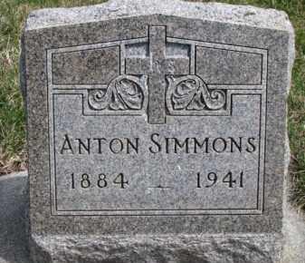 SIMMONS, ANTON - Dixon County, Nebraska | ANTON SIMMONS - Nebraska Gravestone Photos