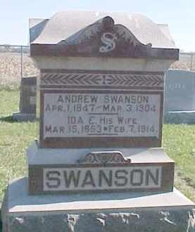 SWANSON, ANDREW - Dixon County, Nebraska | ANDREW SWANSON - Nebraska Gravestone Photos
