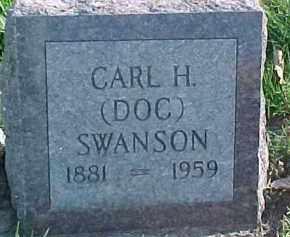 "SWANSON, CARL H. ""DOC"" - Dixon County, Nebraska | CARL H. ""DOC"" SWANSON - Nebraska Gravestone Photos"