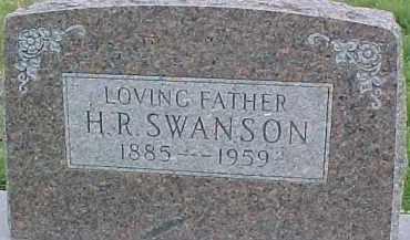 SWANSON, H.R. - Dixon County, Nebraska   H.R. SWANSON - Nebraska Gravestone Photos