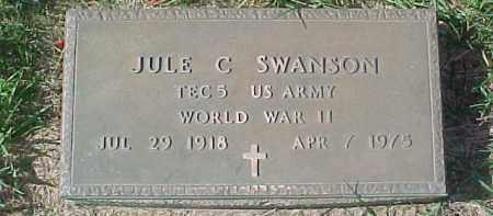 SWANSON, JULE C. (WW II MARKER) - Dixon County, Nebraska | JULE C. (WW II MARKER) SWANSON - Nebraska Gravestone Photos