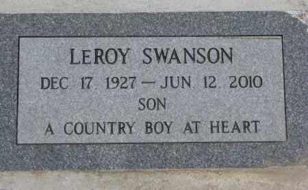 SWANSON, LEROY - Dixon County, Nebraska   LEROY SWANSON - Nebraska Gravestone Photos