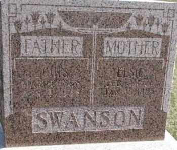 SWANSON, ELSIE - Dixon County, Nebraska | ELSIE SWANSON - Nebraska Gravestone Photos