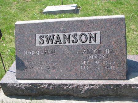 SWANSON, NORMAN G. - Dixon County, Nebraska | NORMAN G. SWANSON - Nebraska Gravestone Photos